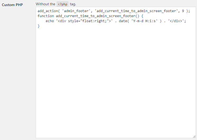 WooCommerce Booster Custom PHP - Admin Settings