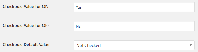 WooCommerce Checkout Custom Fields - Admin Settings - Checkbox Field Type Options