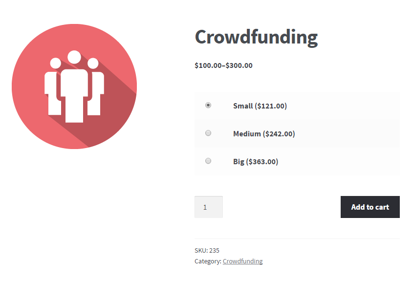 WooCommerce Crowdfunding - Frontend