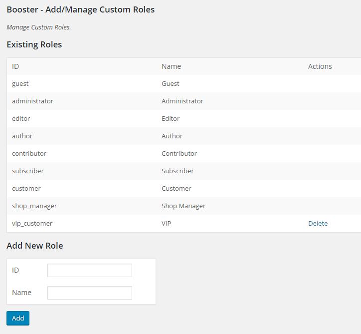 WooCommerce Custom Roles Tool