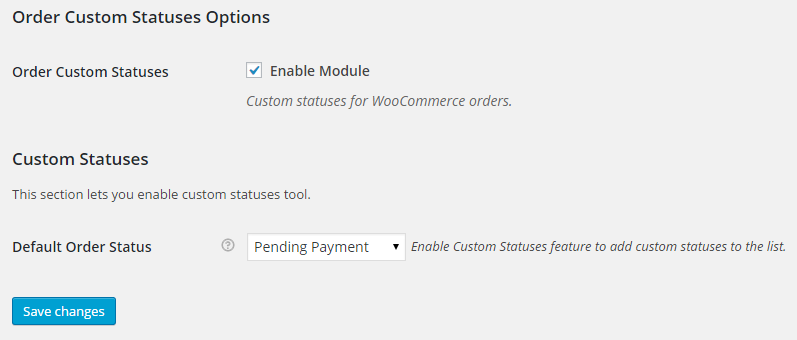 WooCommerce Order Custom Statuses