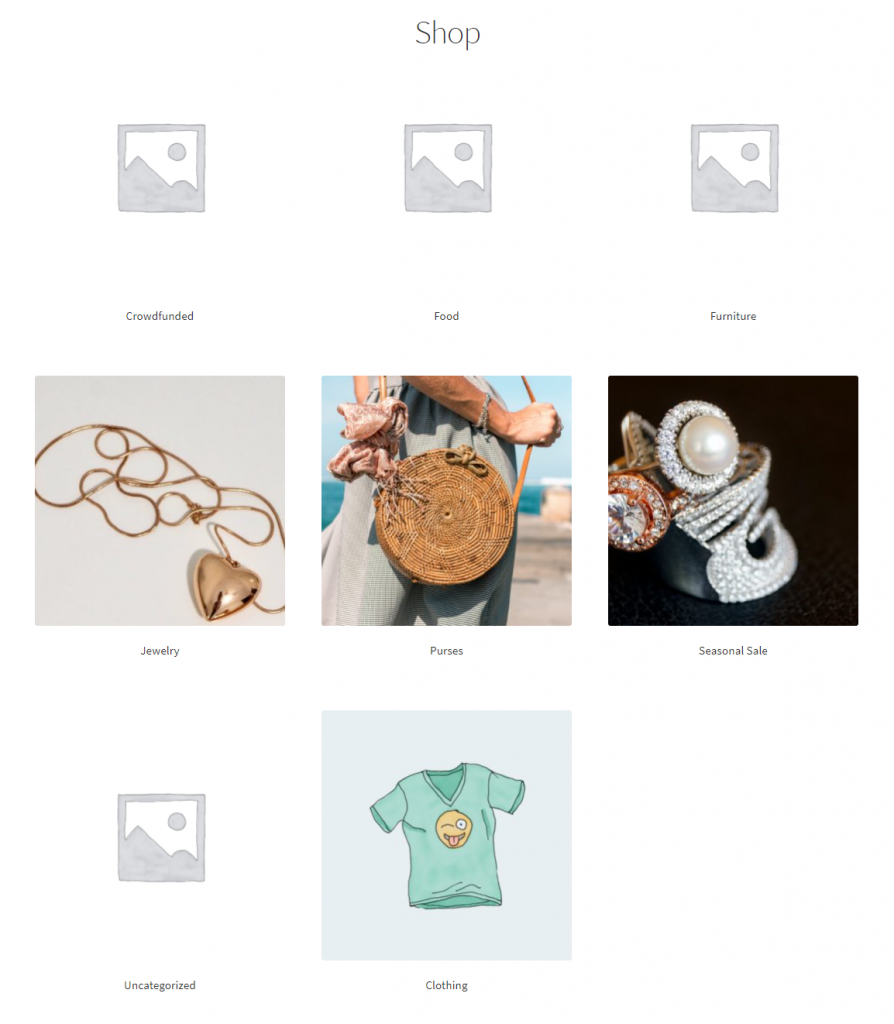 Customize shop and category pages