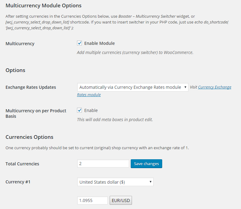 WooCommerce Multicurrency (Currency Switcher)