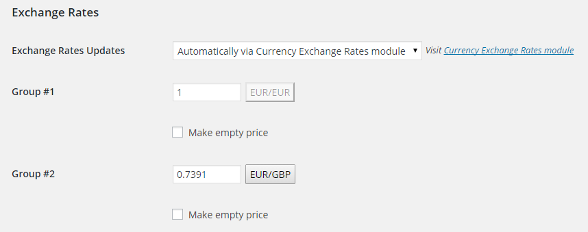 WooCommerce Prices and Currencies by Country