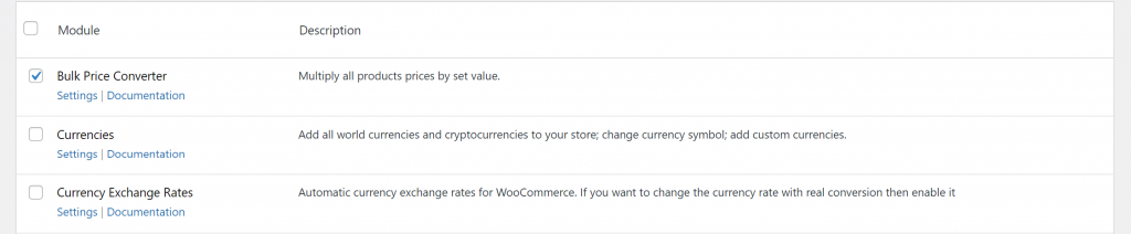Enable Bulk Price Converter module