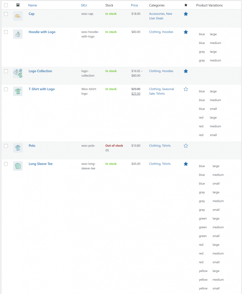 Customize product list for admins preview