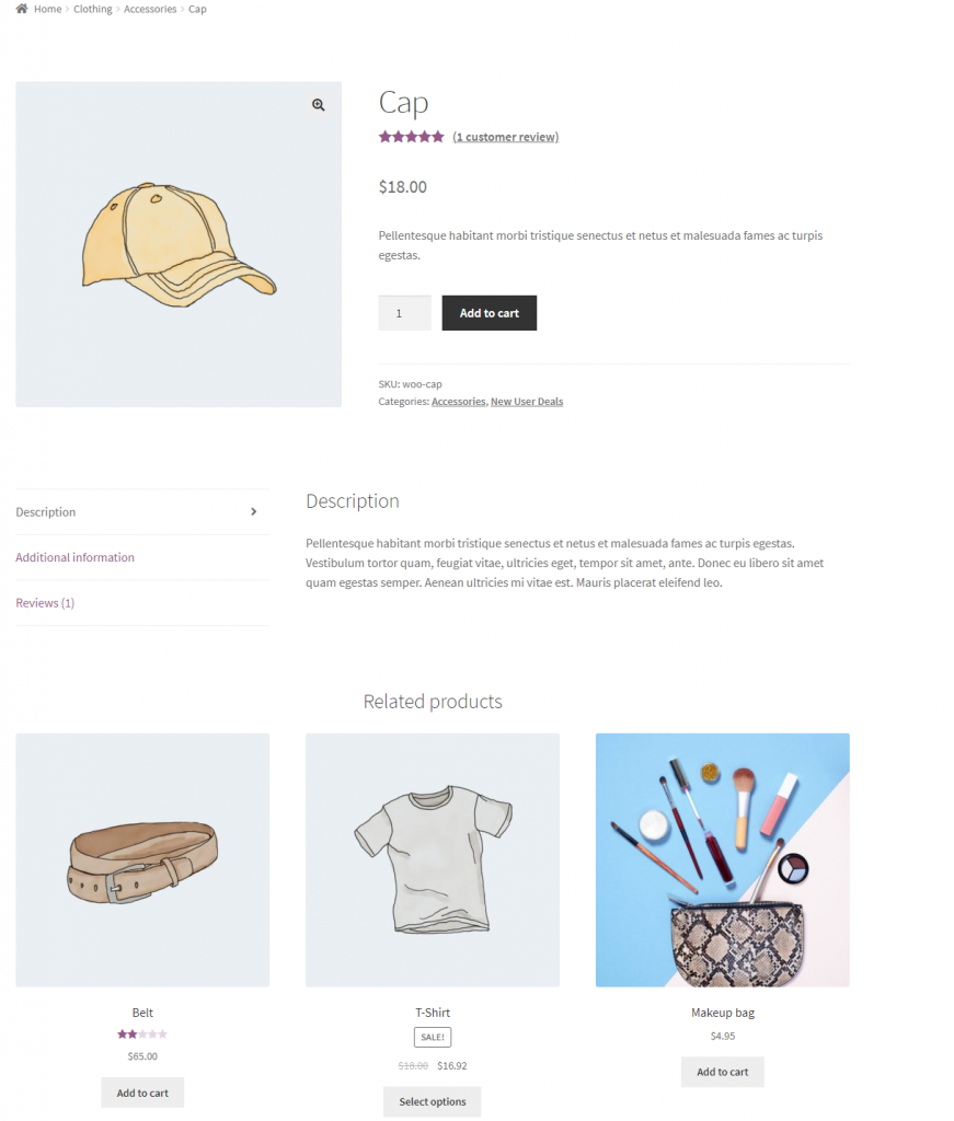 WooCommerce Upsells preview